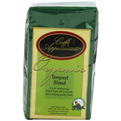Caffe Appassionato Organic Shade Grown Tempest Blend, 12-Ounce Bags (Pack of 3)