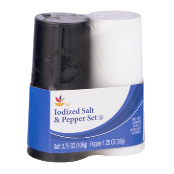 Ahold Iodized Salt & Pepper Set
