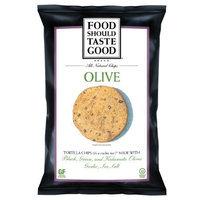 FoodShouldTasteGood Olive Tortilla Chips, 1.5-Ounce Bags (Pack of 24)