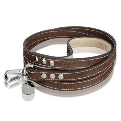 Hennessy & Sons Hennessy Dog Leash, Chocolate