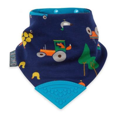 Infant Cheeky Chompers 'Neckerchew - Joules' Reversible Teething Bib - Blue