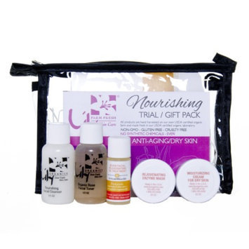 Lily Farm Fresh Skin Care 5 Piece Trial / Gift Pack, Nourishing for Anti-Aging/Dry Skin, 1 set