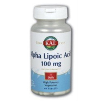 KAL Alpha Lipoic Acid Capsules, 100 mg, 60 Count