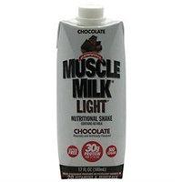 CytoSport Muscle Milk Light RTD - 12 - 17 Fl. Oz. Bottles - Chocolate