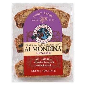 Almondina All-Natural Cookies, Sesame, 4 Oz, Pack Of 12