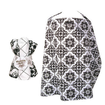 Test NURSING COVER AND BURP CLOTH SET VERSAILLES BLACK & WHITE