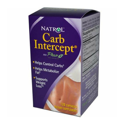 Natrol Carb Intercept with Phase 2 Starch Neutralizer 120 Capsules