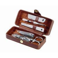 Brookstone Royce Leather Framed Manicure Set