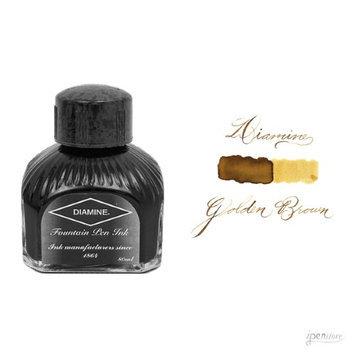 Diamine 80 ml Bottle Fountain Pen Ink, Golden Brown