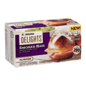 Jimmy Dean Delights Smoked Ham Sandwiches - 2 CT