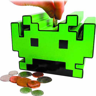 50FIFTY LTD Space Invaders Money Box, 1 ea