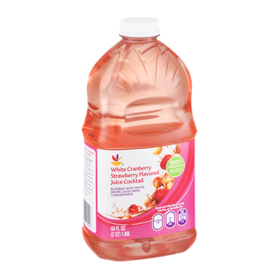 Ahold White Cranberry Strawberry Flavored Juice Cocktail