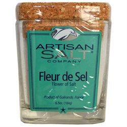 Saltworks Artisan Fleur de Sel - 5 oz. glass jar - Artisan