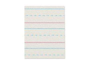 Pacon Corporation PACZP2613 Broken Midline Paper- . 50inchx. 25inch Short Rule- 8x10. 50inch- WE