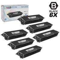 LD Compatible Brother TN580 Set of 6 High Yield Black Laser Toner Cartridges