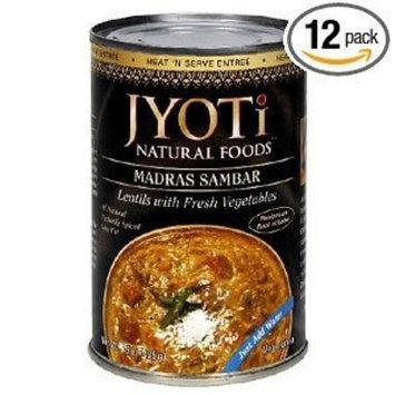 Jyoti Cuisine India Jyoti Natural Foods Madras Sambar, Yellow Lentils with Vegetables, Vegetarian, 425 Gram Cans (Pack of 12) ( Value Bulk Multi-pack)