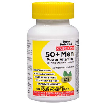 Super Nutrition SimplyOne 50+ Men Multivitamin-Mineral Dietary Supplement Tablets
