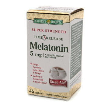 Nature's Bounty Melatonin 5mg Time Released