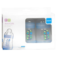 MAM Baby - Anti-Colic 3 Bottle Pack 5oz (0+ Months) - Blue