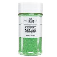 India Tree Green Pastel Sanding Sugar, 3.5 oz (Pack of 3)
