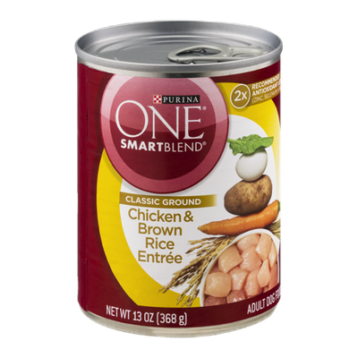 Purina One Smartblend Adult Dog Food Chicken & Brown Rice Entree