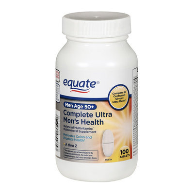 Equate Men's Age 50+ Complete Ultra Health Balanced Multivitamin/Multimineral Supplement