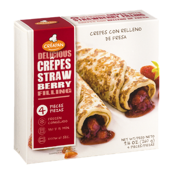 Creapan Delicious Crepes Strawberry Filling - 4 CT