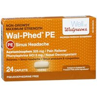 Walgreens Wal-Phed PE Maximum Strength Sinus Headache Caplets