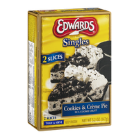 Edwards Singles Cookies & Creme Pie - 2 CT