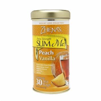 Zhena's Gypsy Tea Extra Strength SLIM Me Tea, Peach Vanilla, 30 ea