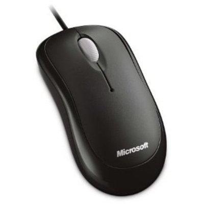 Microsoft P58-00061 Basic Optical Mouse - USB, Ambidextrous Design, Customizable Buttons, Ergonomic, Mac/Windows, Black