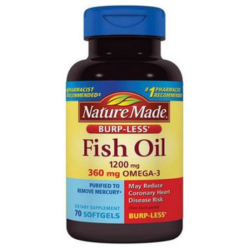 Pharmavite Llc Nature Made Fish Oil Dietary Supplement Softgels, 1200mg, 70 count