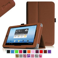 Fintie Folio Leather Case Cover For E FUN Nextbook Premium 7HD NX007HD8G Tablet, Brown