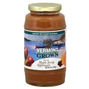 Vermont Village, Applesauce, Vermont Maple, 24 Oz (Pack of 6)