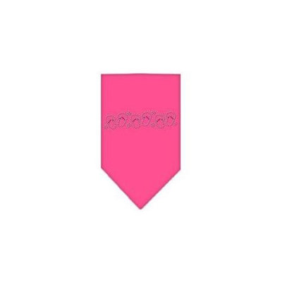 Ahi Beach Sandals Rhinestone Bandana Bright Pink Large