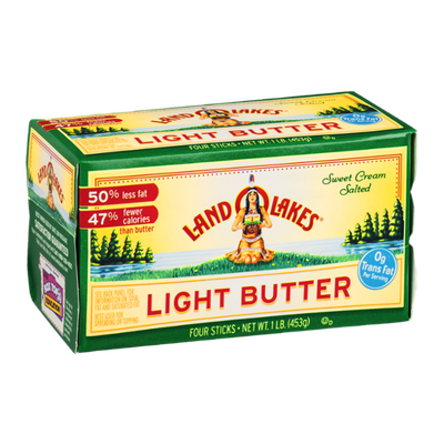 Land O'Lakes Sweet Cream Salted Light Butter - 4 CT