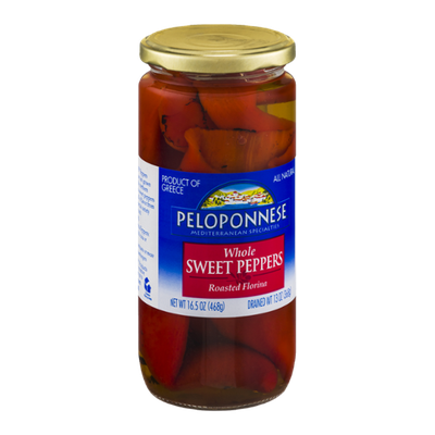 Peloponnese Whole Sweet Peppers Roasted Florina