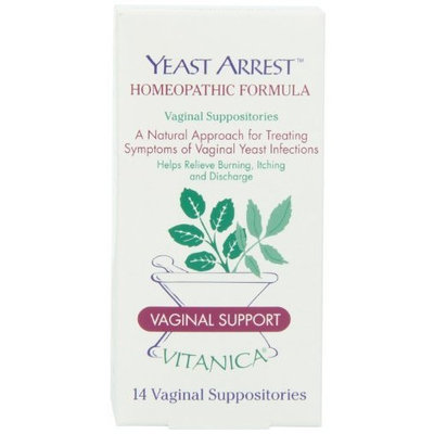 Vitanica Yeast Arrest Suppositories, 14 Count