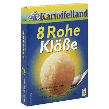 Kartoffelland 8 Rohe Klobe (8 Raw Potato Dumpling), 8-Ounce Boxes (Pack of 14)