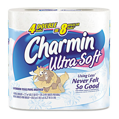 PG Procter & Gamble 29685PK Charmin Ultra Strong Big Roll Bath Tissue- 176 Sheets/Roll- 4/Pack