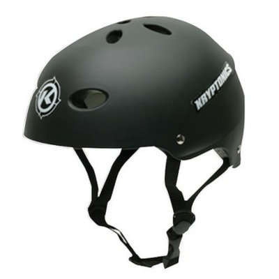 Kryptonics Black  Helmet - Small/Medium