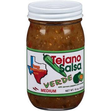 Generic Tejano Salsa Verde56 Texas Green-Horn Style Medium Salsa, 16 oz