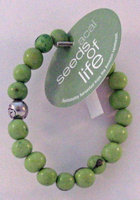 Seeds of Life Bracelet w Antique Silver Bead Green Whitney Howard Designs 1 Bead