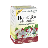 Traditional Medicinals Organic Heart Tea with Hawthorn Herbal Dietary Supplement Tea Bags - 16 CT