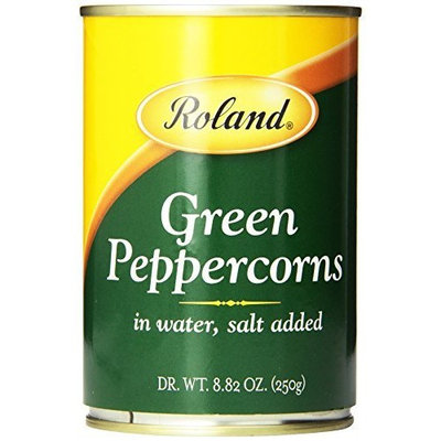 Roland Green Peppercorns, 8.82-Ounce (Pack of 4)