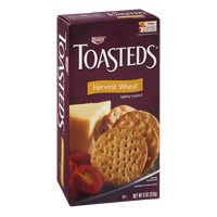 Keebler Toasteds Harvest Wheat Crackers