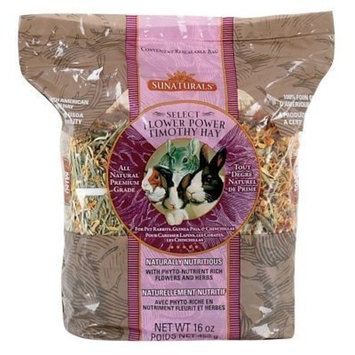 Sunaturals Sun Seed Company SSS88058 9-Pack Sunnatural Select Flower Power Small Animal Timothy Hay, 16-Ounce