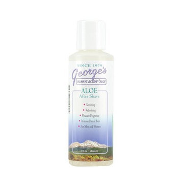 Georges Aloe George's Aloe Vera After Shave, 4 Fluid Ounce
