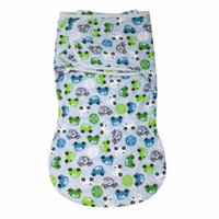 Summer Infant Swaddleme Cotton Wrapsack, Large, Traffic Jam, 1 ea