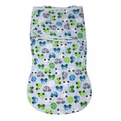 Summer Infant Swaddleme Cotton Wrapsack, Large, Traffic Jam, 1 ea